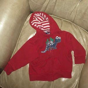 EUC Sz 18m dinosaur zip up hoodie